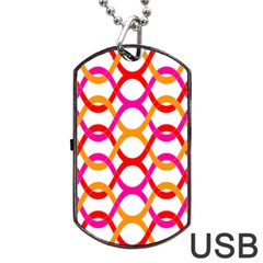 Background Abstract Dog Tag USB Flash (One Side)