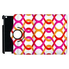 Background Abstract Apple iPad 3/4 Flip 360 Case