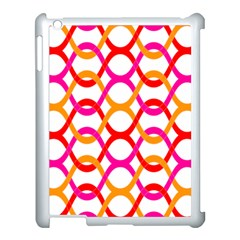 Background Abstract Apple iPad 3/4 Case (White)