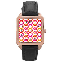Background Abstract Rose Gold Leather Watch