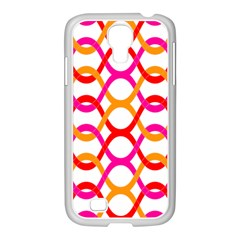 Background Abstract Samsung GALAXY S4 I9500/ I9505 Case (White)