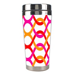 Background Abstract Stainless Steel Travel Tumblers
