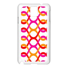 Background Abstract Samsung Galaxy Note 3 N9005 Case (White)