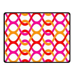 Background Abstract Double Sided Fleece Blanket (Small)