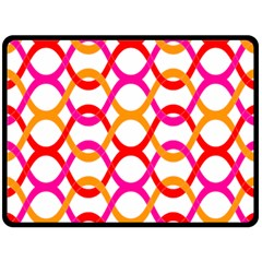 Background Abstract Double Sided Fleece Blanket (Large)