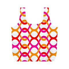 Background Abstract Full Print Recycle Bags (M)