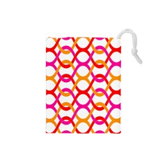 Background Abstract Drawstring Pouches (Small)