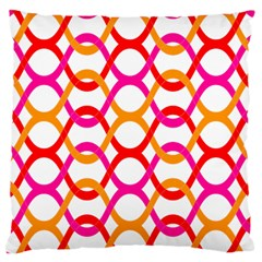 Background Abstract Large Flano Cushion Case (One Side)