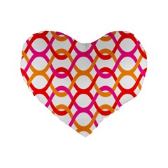 Background Abstract Standard 16  Premium Flano Heart Shape Cushions