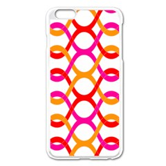Background Abstract Apple iPhone 6 Plus/6S Plus Enamel White Case