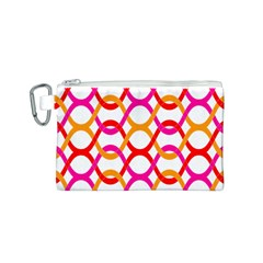 Background Abstract Canvas Cosmetic Bag (S)