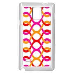 Background Abstract Samsung Galaxy Note 4 Case (White)