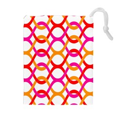 Background Abstract Drawstring Pouches (Extra Large)