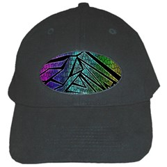 Abstract Background Rainbow Metal Black Cap