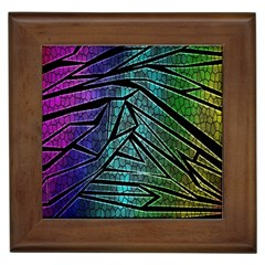 Abstract Background Rainbow Metal Framed Tiles