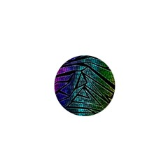 Abstract Background Rainbow Metal 1  Mini Buttons