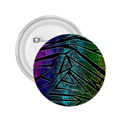 Abstract Background Rainbow Metal 2.25  Buttons