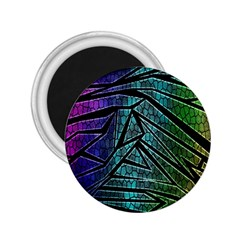 Abstract Background Rainbow Metal 2.25  Magnets
