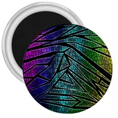 Abstract Background Rainbow Metal 3  Magnets