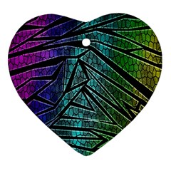 Abstract Background Rainbow Metal Ornament (Heart)