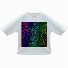 Abstract Background Rainbow Metal Infant/Toddler T-Shirts