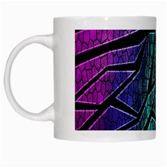 Abstract Background Rainbow Metal White Mugs