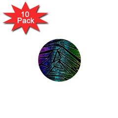 Abstract Background Rainbow Metal 1  Mini Buttons (10 pack)