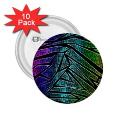 Abstract Background Rainbow Metal 2.25  Buttons (10 pack)