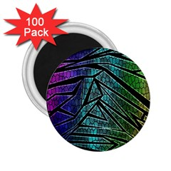 Abstract Background Rainbow Metal 2.25  Magnets (100 pack)