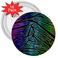 Abstract Background Rainbow Metal 3  Buttons (10 pack)