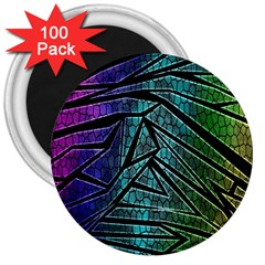 Abstract Background Rainbow Metal 3  Magnets (100 pack)