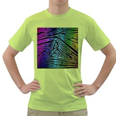 Abstract Background Rainbow Metal Green T-Shirt