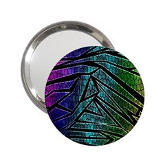 Abstract Background Rainbow Metal 2.25  Handbag Mirrors
