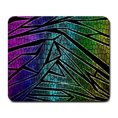 Abstract Background Rainbow Metal Large Mousepads