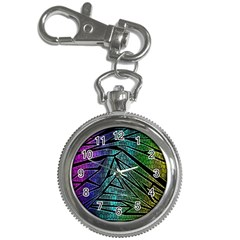 Abstract Background Rainbow Metal Key Chain Watches