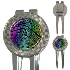 Abstract Background Rainbow Metal 3-in-1 Golf Divots