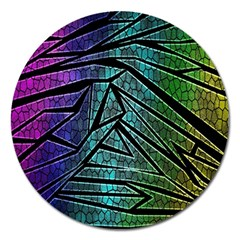 Abstract Background Rainbow Metal Magnet 5  (Round)