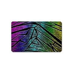 Abstract Background Rainbow Metal Magnet (Name Card)