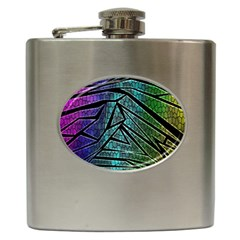 Abstract Background Rainbow Metal Hip Flask (6 oz)