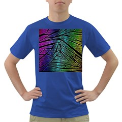 Abstract Background Rainbow Metal Dark T-Shirt