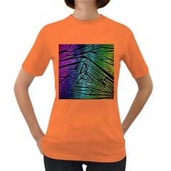 Abstract Background Rainbow Metal Women s Dark T-Shirt