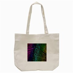 Abstract Background Rainbow Metal Tote Bag (Cream)