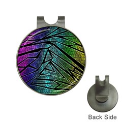 Abstract Background Rainbow Metal Hat Clips with Golf Markers