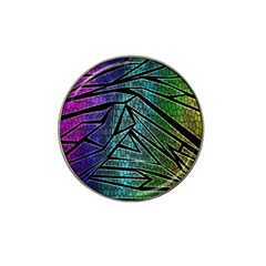 Abstract Background Rainbow Metal Hat Clip Ball Marker (4 pack)