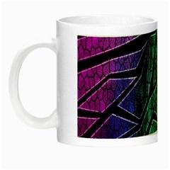 Abstract Background Rainbow Metal Night Luminous Mugs