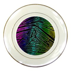 Abstract Background Rainbow Metal Porcelain Plates