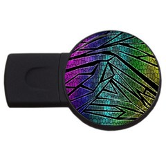 Abstract Background Rainbow Metal USB Flash Drive Round (4 GB)