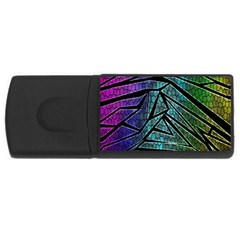 Abstract Background Rainbow Metal USB Flash Drive Rectangular (4 GB)
