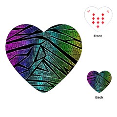Abstract Background Rainbow Metal Playing Cards (Heart)