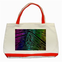 Abstract Background Rainbow Metal Classic Tote Bag (Red)